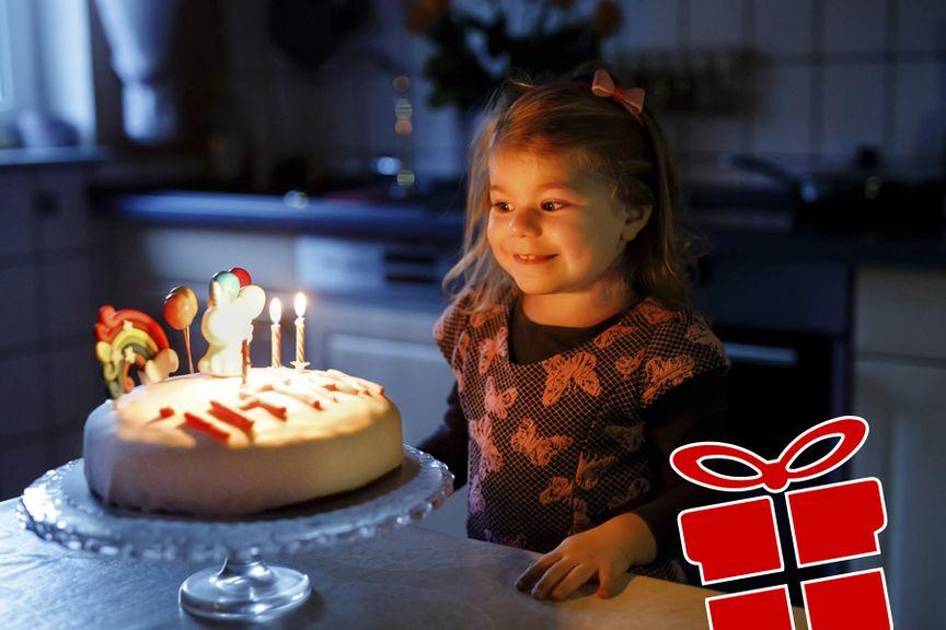 Mädchen feiert seinen Geburtstag Geschenkidee Icon