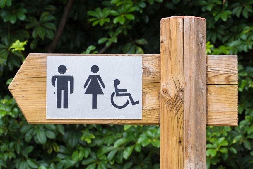 Wegweiser für öffentliche WCs