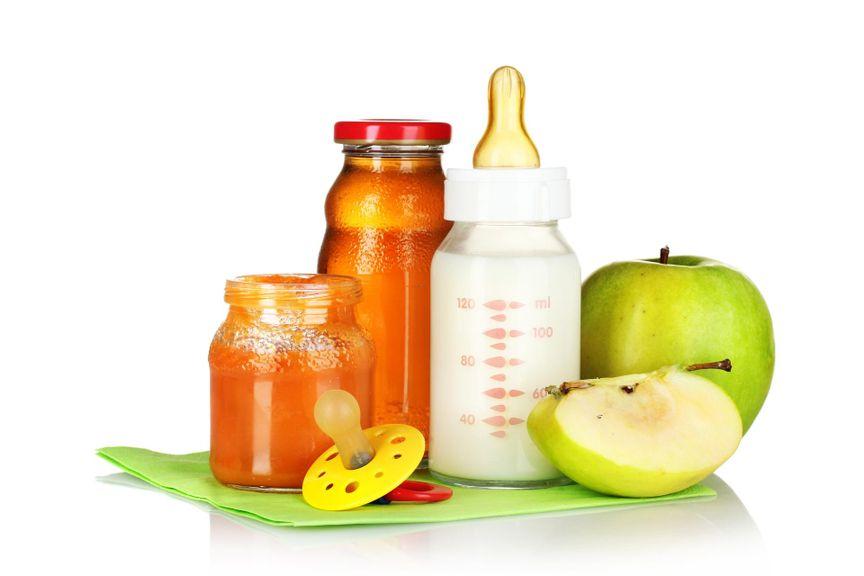 Gläschen, Schoppen, Nuggi  und Früchte