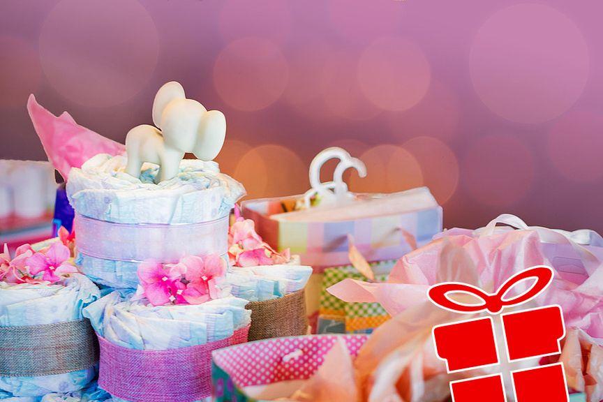Geschenk Idee Babyshower Icon