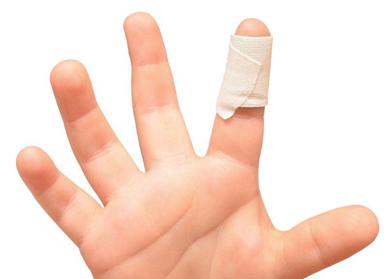 Zeigefinger mit Pflaster