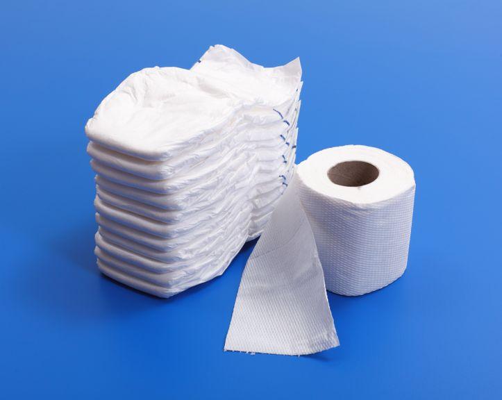 Windeln und Toilettenpapier