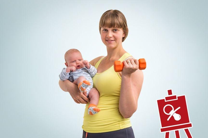 Kursportal mit Baby Icon