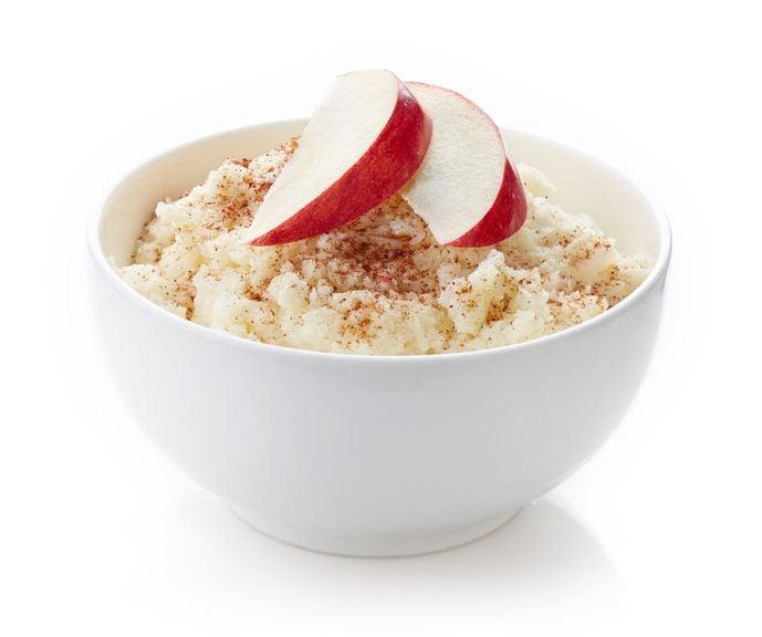 Milchreis mit Apfelschnitzen