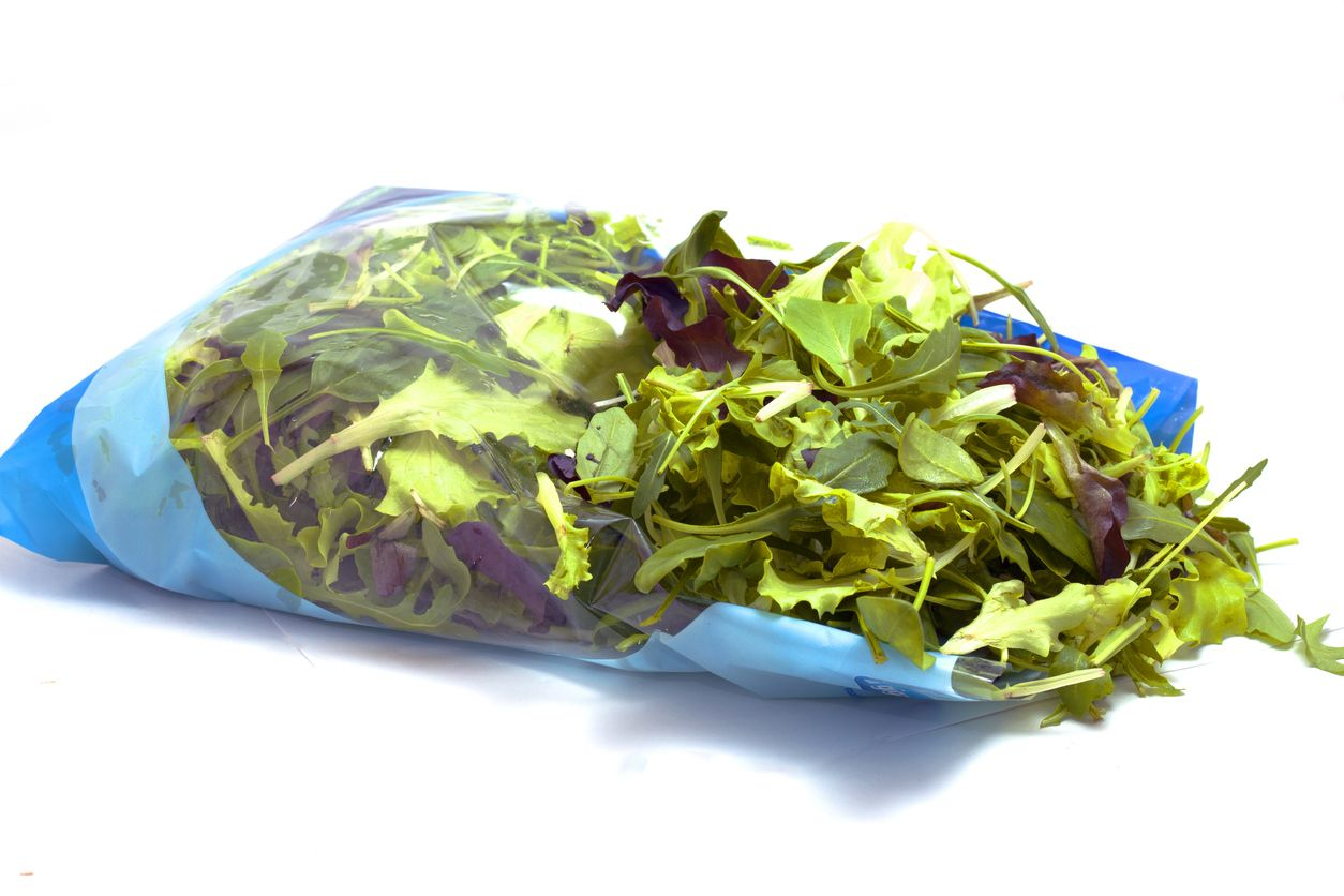 Schnittsalat in Verpackung