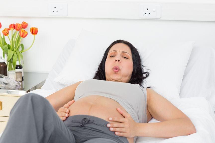 Schwangere in Wehen