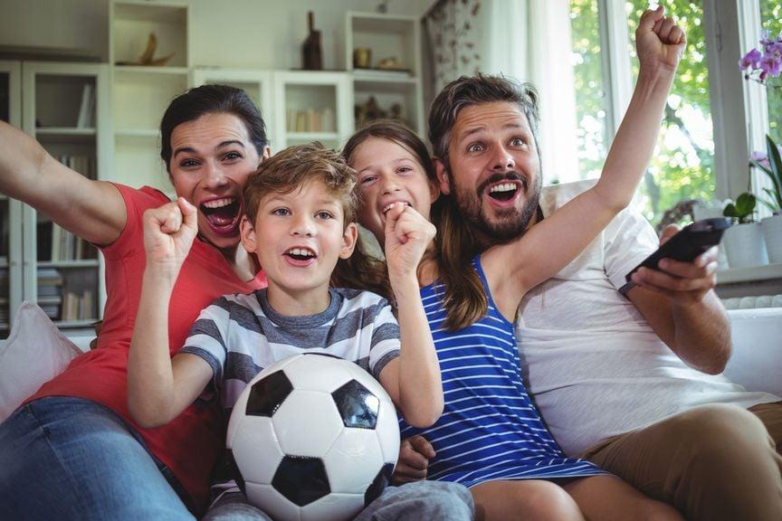 Famile, Fussball und Fernsehen
