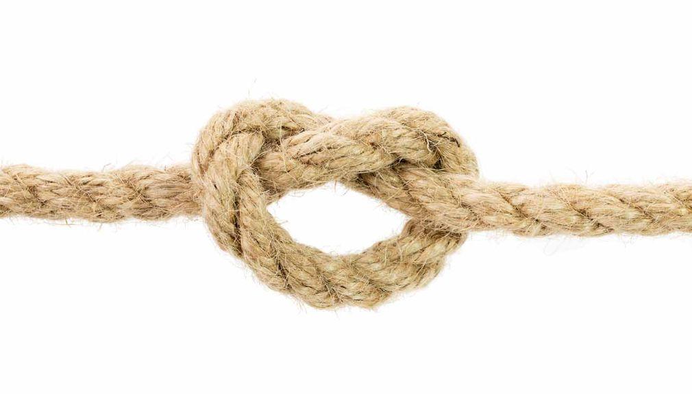 Knoten im Seil,Seil mit Knoten