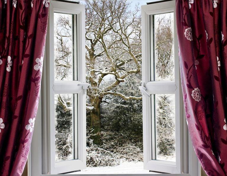 geöffnete Fenster