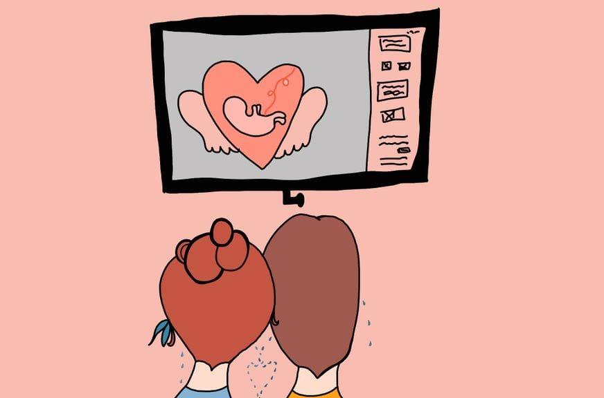 Schwangerschaftskolumne Woche 11  Ultraschall