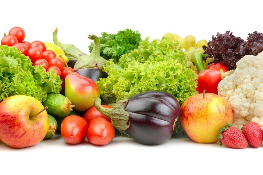 Salat, Gemüse und Obst