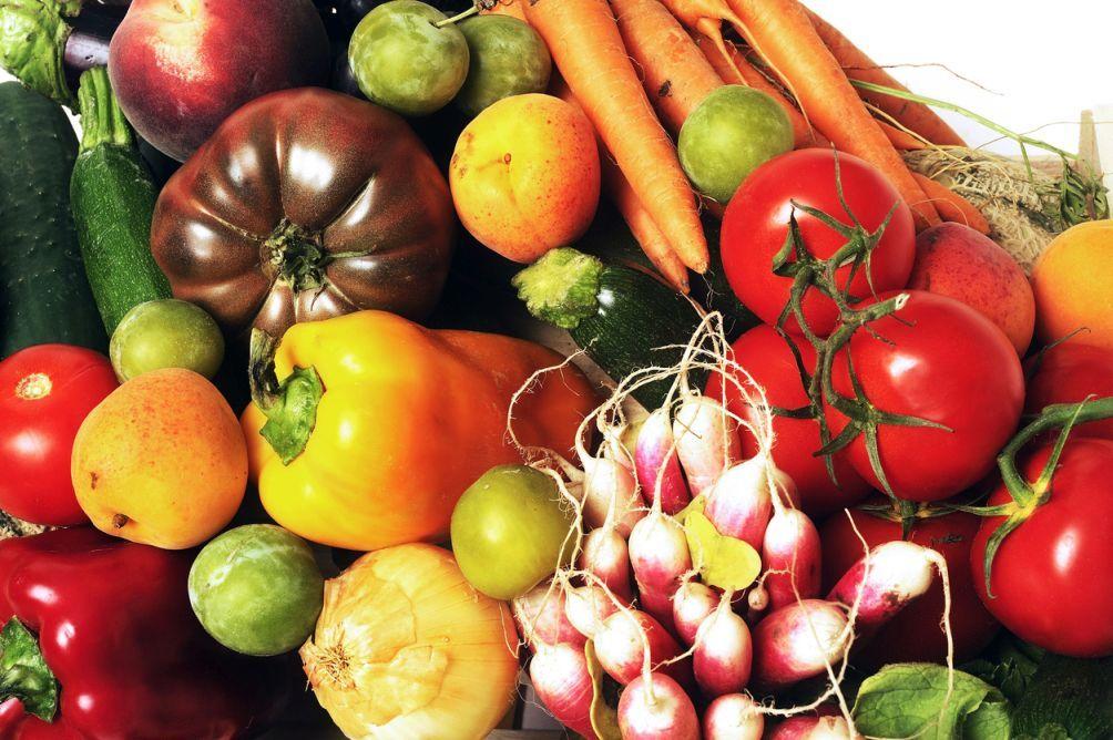 Obst und Gemüse mit Vitamin A