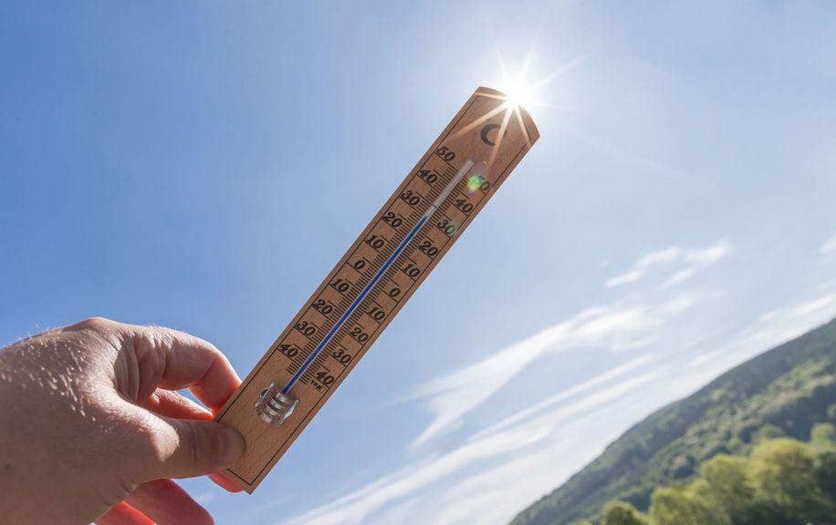 Thermometer in der Sonne, Ozonalarm