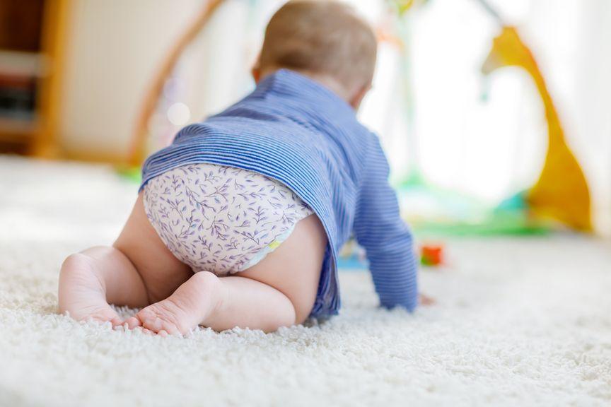 Baby von hinten im Vierfüsslerstand