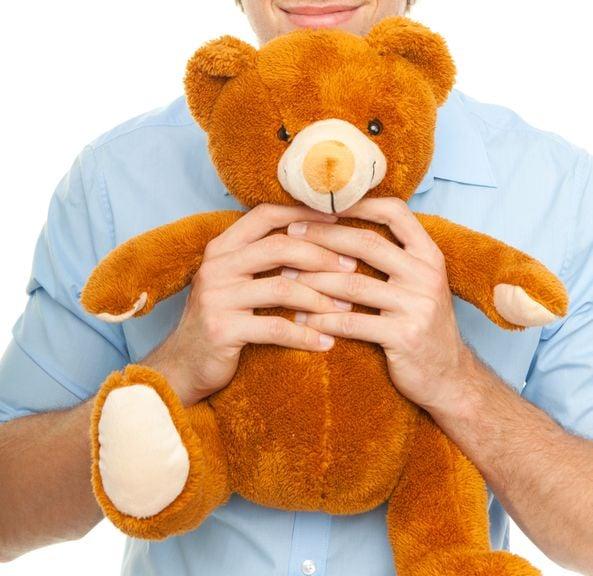 papa mit Teddybär
