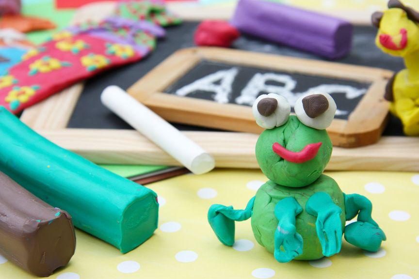 Frosch aus Knete