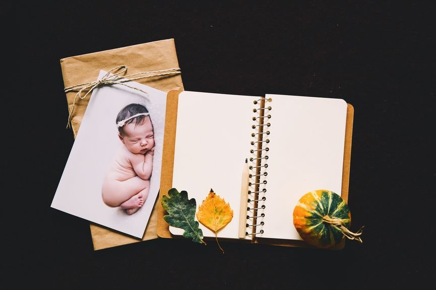 Babytagebuch mit Deko