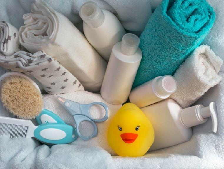 Pflegeprodukte fürs Babybad