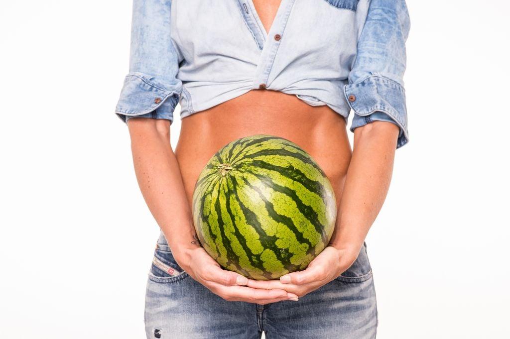 Babybauch 20 Fruechte Wassermelone