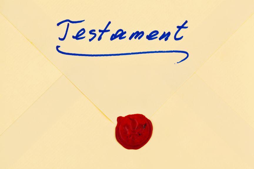 Testament in deutscher Sprache