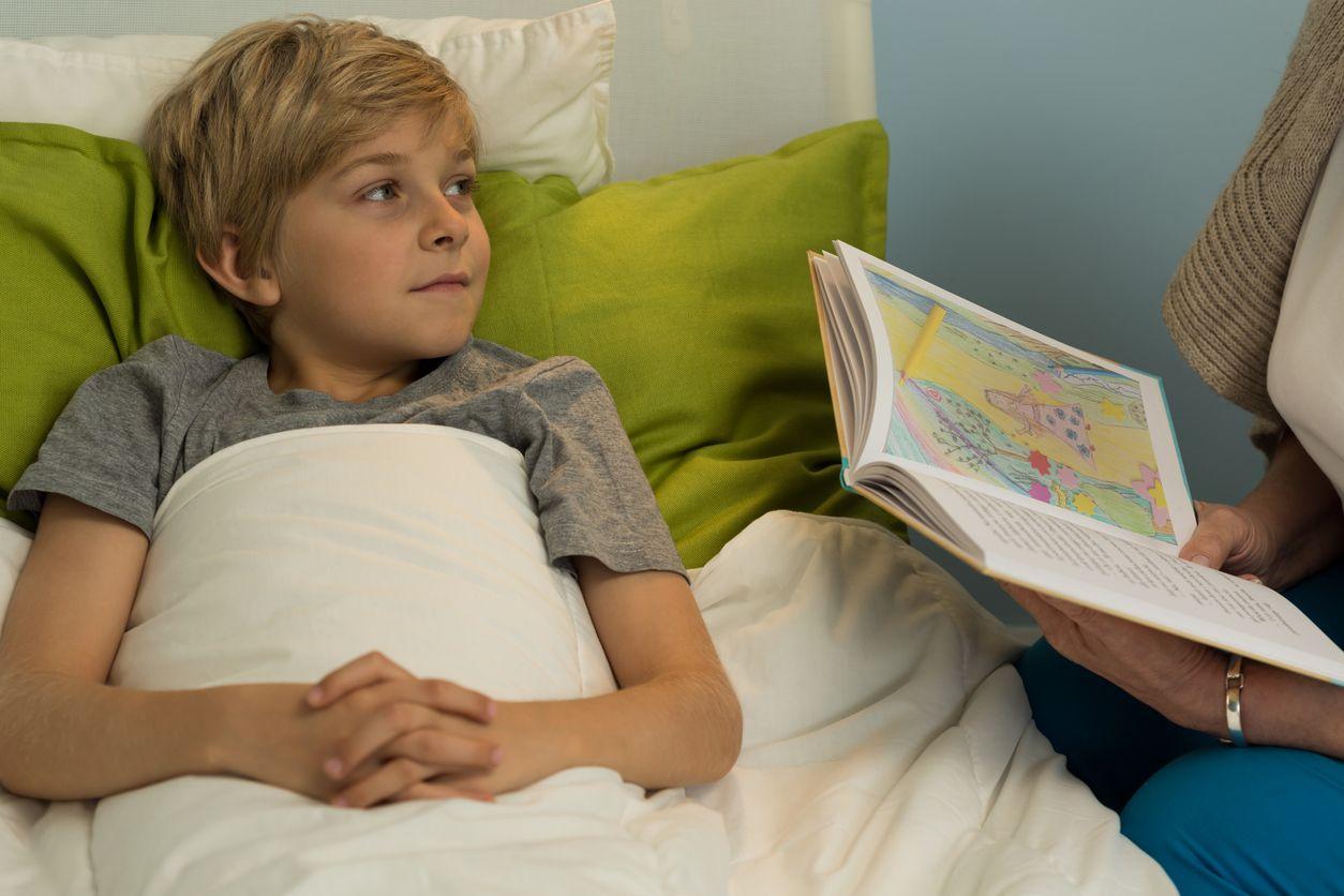 Vorlesen am Bett